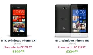 HTC 8X и HTC 8S