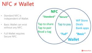 Microsoft рассказали про поддержку NFC и приложение Wallet