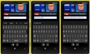 В клавиатуре Windows Phone 8 задействована новая функция предсказывания набираемых слов