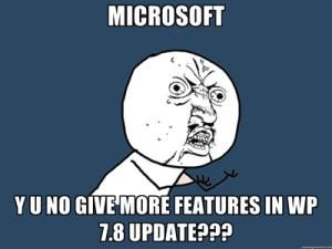 Microsoft больше не интересует, что пользователи хотят от Windows Phone 7.8