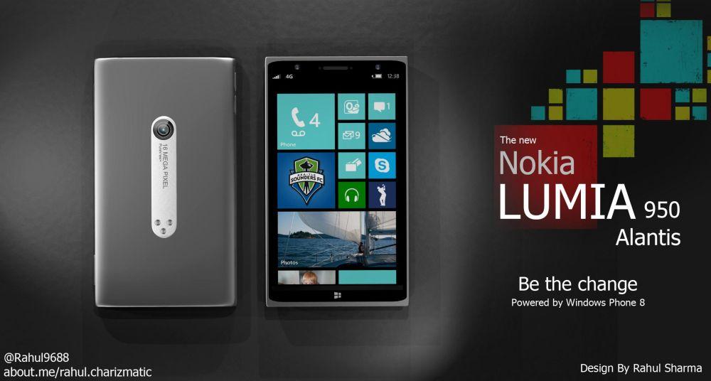 Концепт Nokia Lumia 950 Atlantis на базе Windows Phone