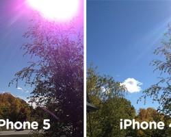Фиолетовые артефакты на фотографиях — это нормально для iPhone 5?