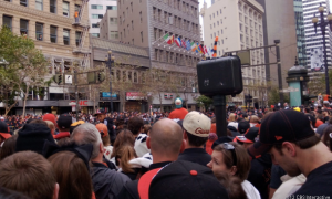Участники парада San Francisco Giants