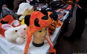 Продажа сувениров по маршруту парада San Francisco Giants