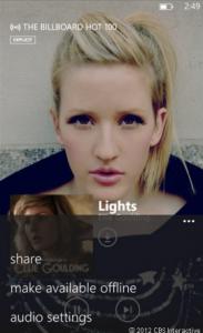 Nokia Music позволяет вам кэшировать музыку для автономного прослушивания.