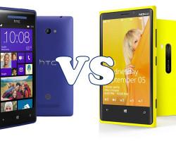 Видео сравнение Nokia Lumia 920 и HTC 8Х.