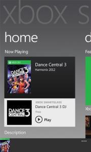 Главный экран в Xbox SmartGlass