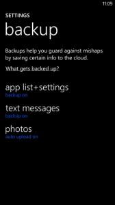 Бэкап в Windows Phone 8