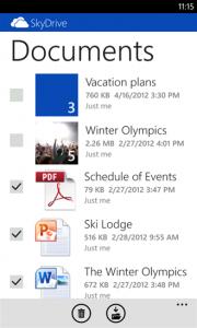 SkyDrive 3.0 для Nokia Lumia