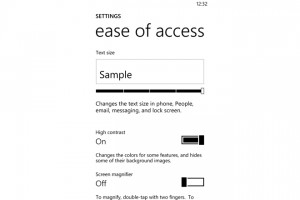 Windows Phone 8: Ease of Access