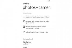 Windows Phone 8: Защита от снимка из кармана