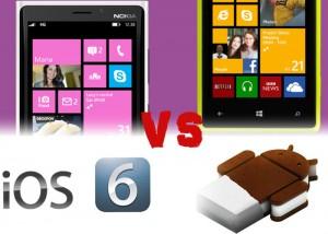 Сравнение Windows Phone 8 vs. iOS 6 vs. Android 4.0