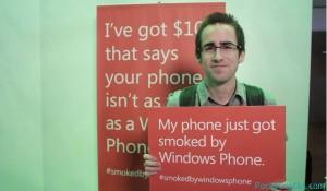 Проигравший в соревновании Smoked by Windows Phone