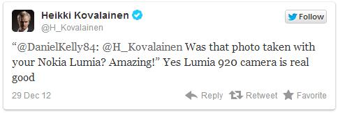 Хейкки Ковалайнен о Nokia Lumia 920