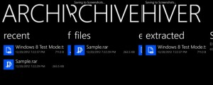 Archiver Options in WIndows Phone 8