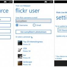 Flickr Live Wallpaper – добавьте новых фотографий на экран блокировки Windows Phone 8