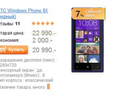 HTC 8X в России продолжает дешеветь