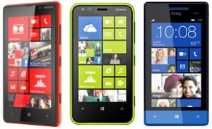Nokia Lumia 620 vs. Nokia Lumia 820 vs. Windows Phone 8S HTC