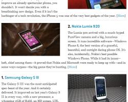 Nokia Lumia 920 — второй по значимости смартфон-2012 по версии Gizmodo