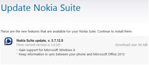 Обновление Nokia Suite