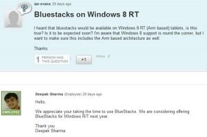 Bluestacks для Windows RT  в следующем году