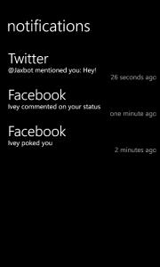 Центр уведомлений для Windows Phone