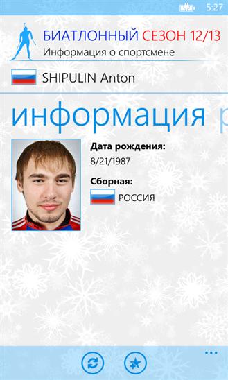 Ведущий биатлонист сборной России Антон Шипулин