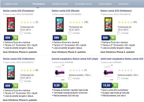 Купить Nokia Lumia 920 дешево в Финляндии за 18,5 тысяч рублей