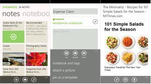 Evernote для Nokia Lumia