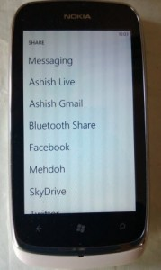 Bluetooth Share on Windows Phone 7.8