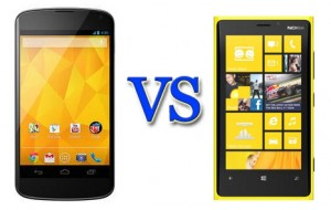 Lumia 920 vs Nexus 4