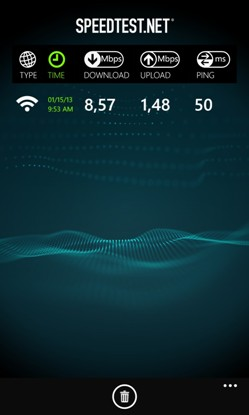 Speedtest для Windows Phone 8