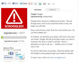 Microsoft: заставьте Google перестать просматривать вашу почту