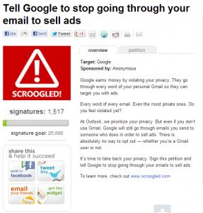Петиция Outlook.com