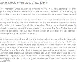 В вакансии Microsoft упоминается обновление Windows Phone Blue