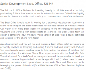 Вакансия Senior Development Lead на сайте Microsoft