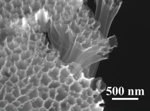 Полые углеродные нановолокна с серным напылением