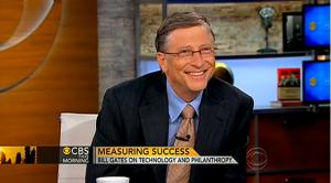 Билл Гейтс в студии CBS