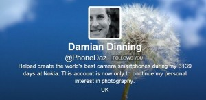 Дэмиан Диннинг в твиттере