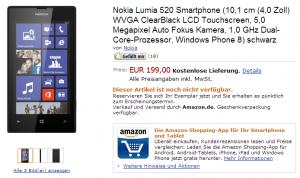 Nokia Lumia 520 в Amazon Germany
