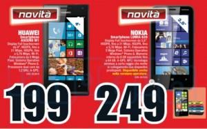 Huawei Ascend W1 и Nokia Lumia 620 на флаере MediaWorld
