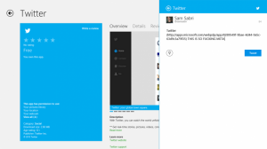 Официальный Twitter-клиент для Windows 8