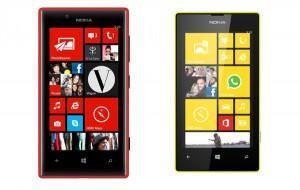 Nokia Lumia 720 и Lumia 520