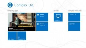 Windows Phone 8 Company Portal App