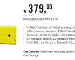 Цены на Nokia Lumia 520 и 720 в Германии, а также на Nokia Lumia 620 и Huawei Ascend W1 в Италии