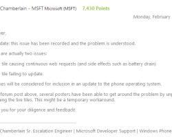 Microsoft собирается устранить баг с живыми плитками в Windows Phone 7.8