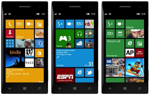 Стартовый экран Windows Phone 8 - варианты оформления