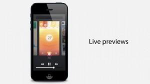 """iOS 7. Концепт """"живого"""" предпросмотра"""