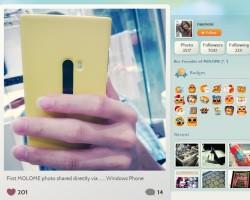 В MOLOME появилась первая фотография, отправленная через Windows Phone