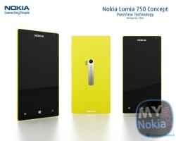 Концепт Nokia Lumia 750 от DAV